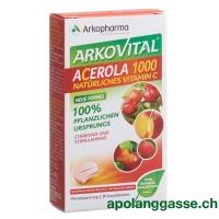 Arkovital Acerola Arkopharma Tabl 1000 mg 30 Stk