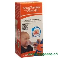 AeroChamber PLUS Flow-Vu mit Maske (0-18 Monate) orange